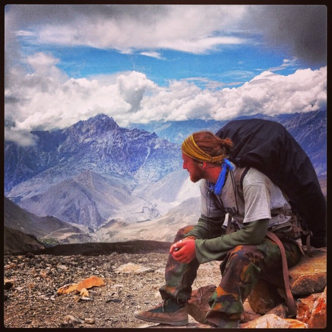 Taking in the view on the way to Muktinath