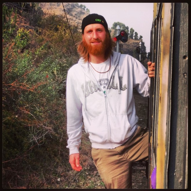 Hanging off the 'toy train' to Shimla