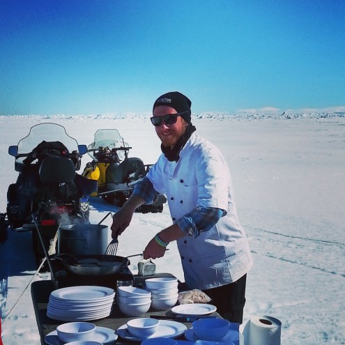 Cooking lunch at the floe edge
