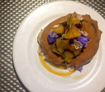 Bannock Donut with Seaside Bluebell garnish