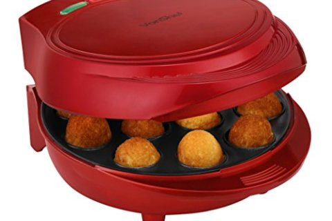 VonShef 12 Cake Pop Maker Machine Set Includes Sticks & Stand – Red