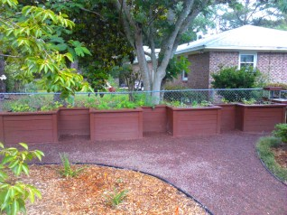 This is a great raised bed installed by Matt and Jake, allowing the no bend over style of gardening.