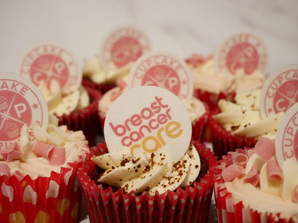 Breast Cancer Care Charity Cupcake Decoration
