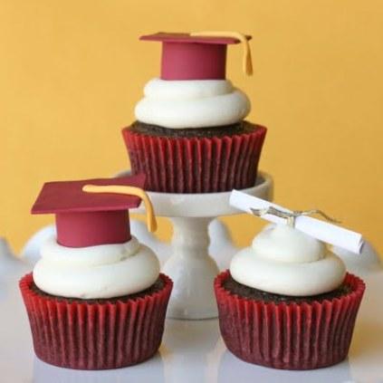"""Graduation cupcake topper"""