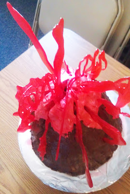 Volcano Cake With Candy Lava Edible Crafts