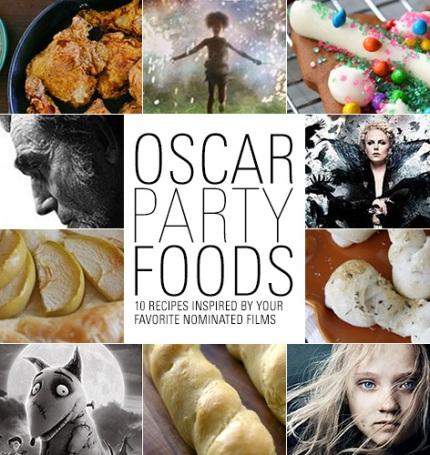 Oscar Night: 15 Movie-Inspired Recipes. Grab your gown or tux - the 86th Academy Awards are March 2. Cook a film-inspired feast with these recipes that honor the nine best picture nominees, along with a few standouts from other categories.