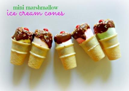"""Mini marshmallow """"Ice Cream"""" Cones"""