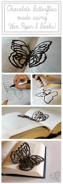 Chocolate Butterflies Using Wax Paper and Books With a Free Pattern
