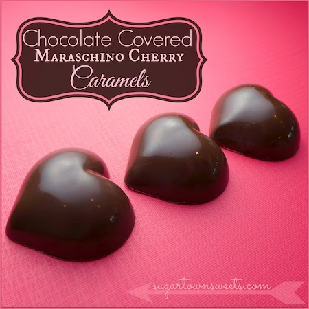 Chocolate Covered Maraschino Cherry Caramels Valentine Hearts