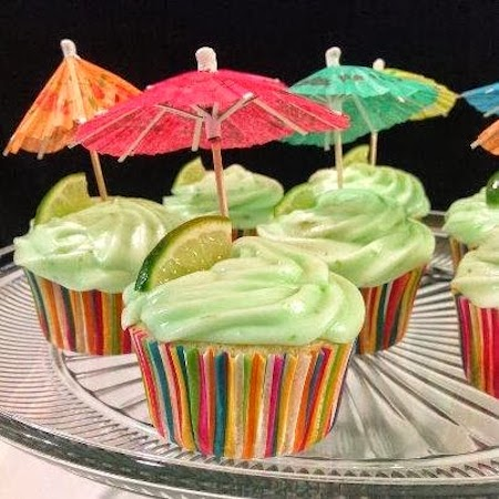 Margarita cupcake w:keylime frosting