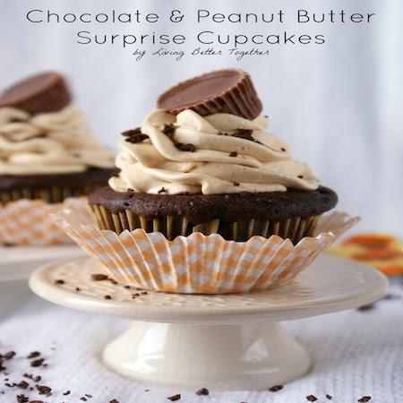 chocolate peanutbutter surprise cupcake