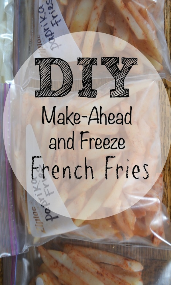Easy DIY Freezer French Fries