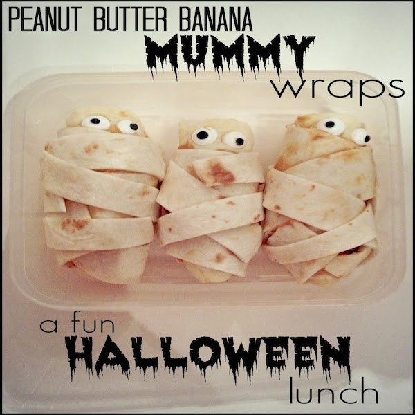 Peanut Butter Banana Mummy Wraps