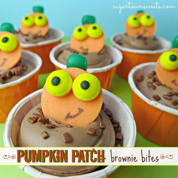 Pumpkin Patch Brownie Bites~Pumpkin Treats