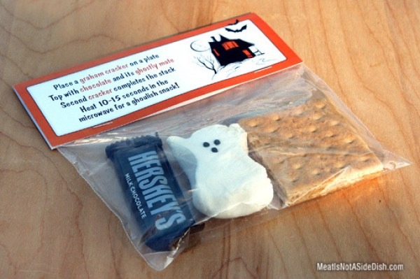 Halloween S'mores Treat - Meat is Not a Side Dish