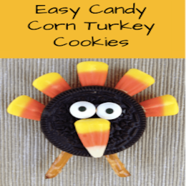 19 Edible Turkey Crafts Thanksgiving Crafts: Easy Candy Corn Turkey