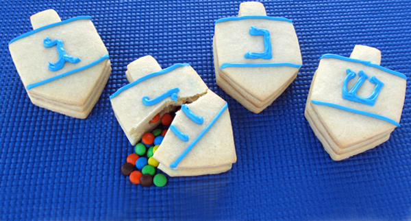 Dreidel Surprise Cookies