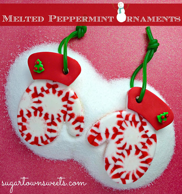 Melted Peppermint Ornaments by Sugartown Sweets!!