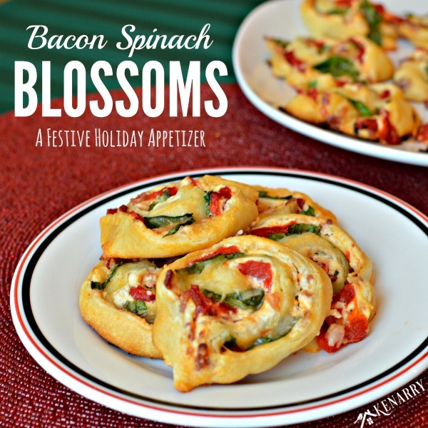 Bacon Spinach Blossoms