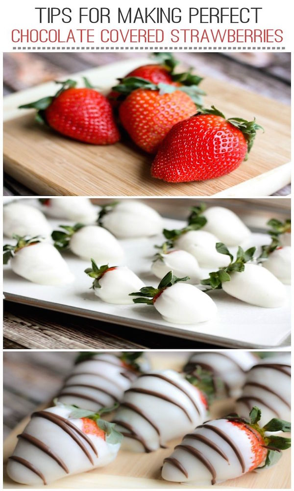 tips for making perfect chocolate covered strawberries