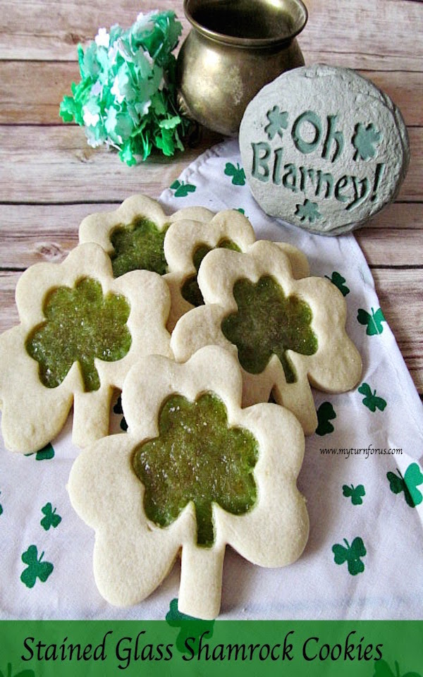 Stained Glass Shamrock Cookies, best