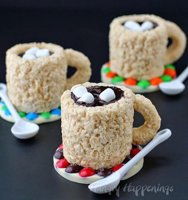 Cafe Mocha Rice Krispie Treat Cups