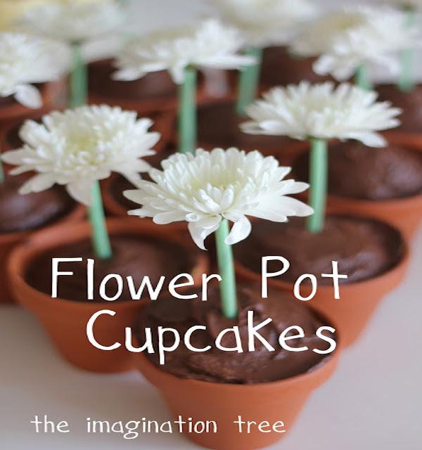 Easy Flower Pot Cupcakes