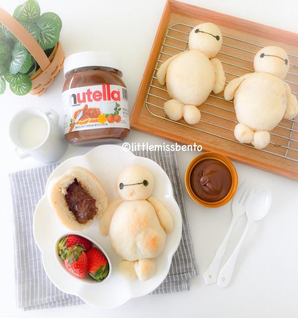 Baymax Nutella Milk Bread – Edible Crafts