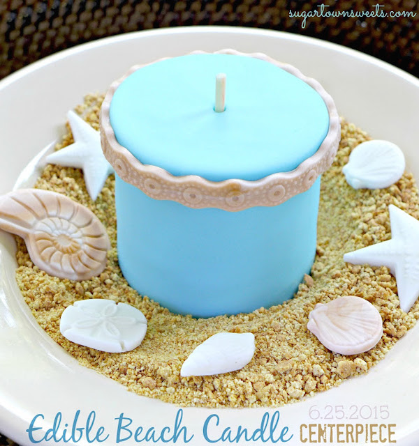 beach candle by Sugartown Sweets