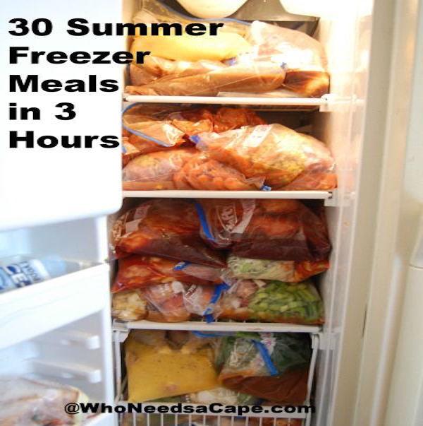 30 summer freezer meals