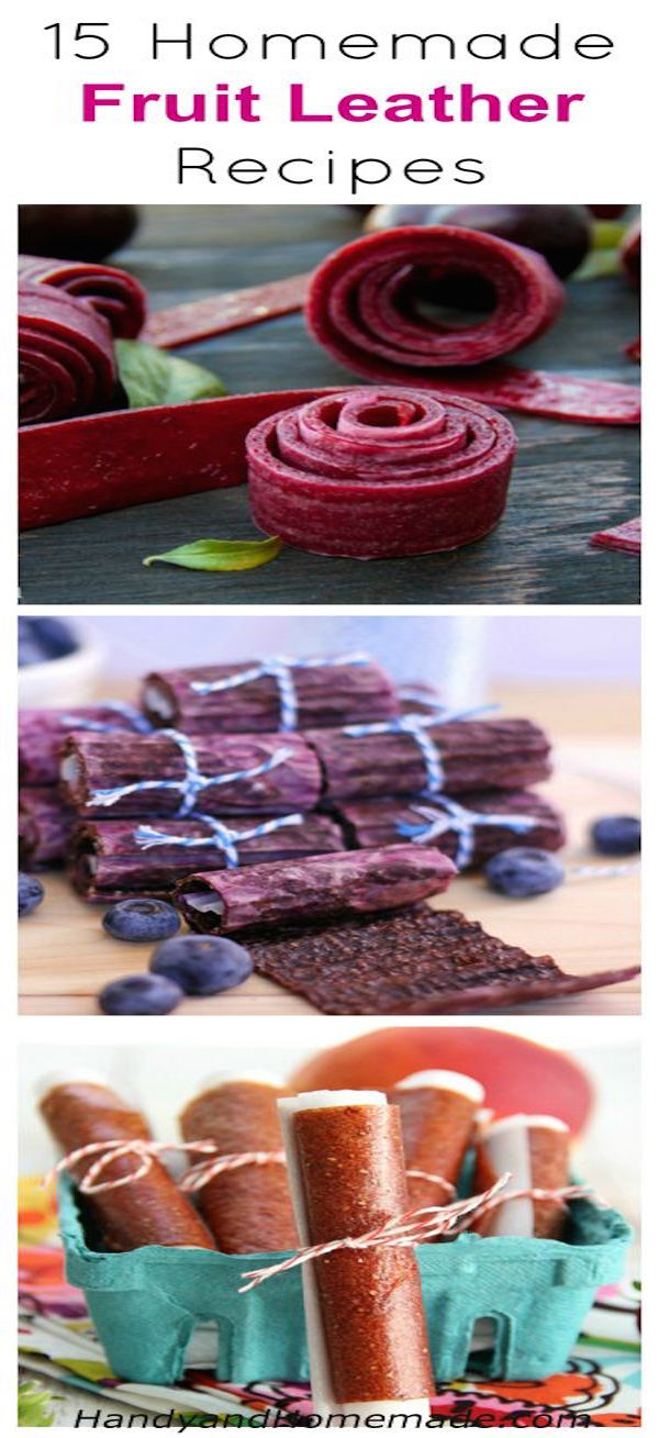 15 homemade fruit leather