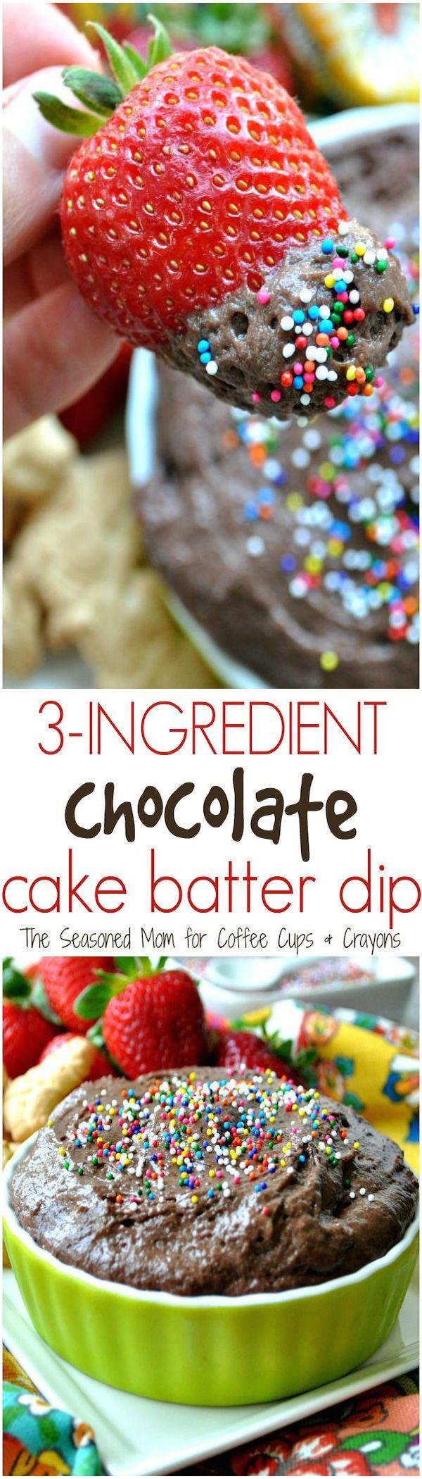 3-ingredient cake batter dip