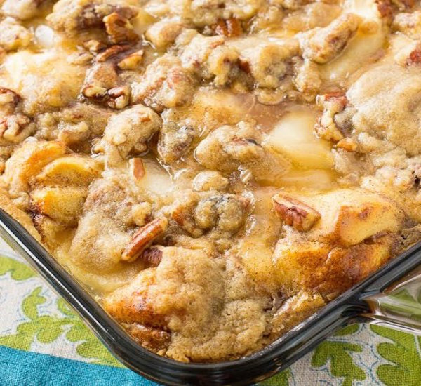 apple streusal french toast bake