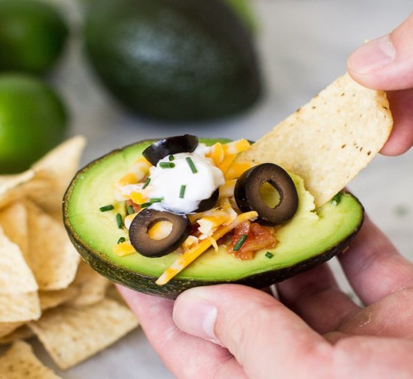 avocado stuffed 7-layered dip