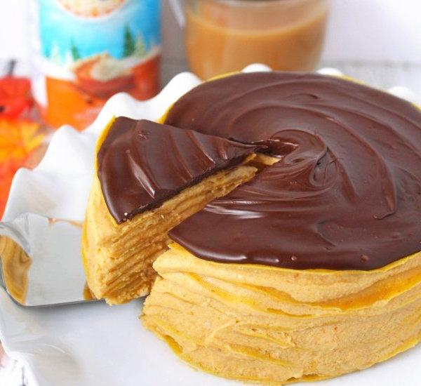 pumpkin spice crepe cake