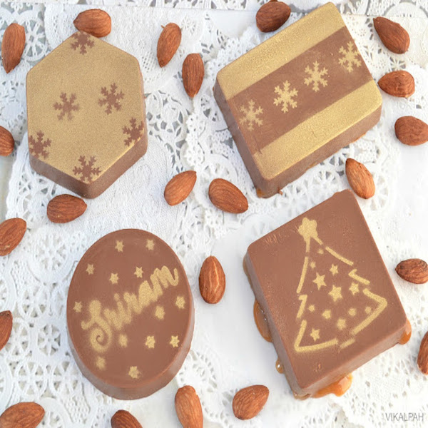 Personalized chocolate using edible spray paint