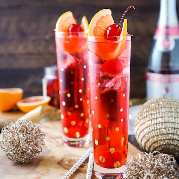 champagne shirley temple drink