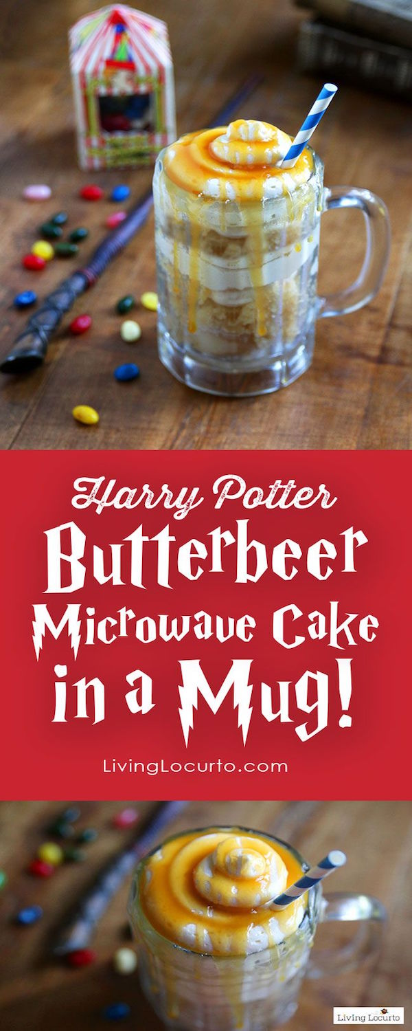 harry potter butterbeer microwave cake in a mug