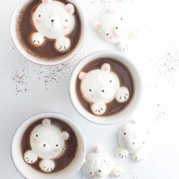 cute bear marshmallows