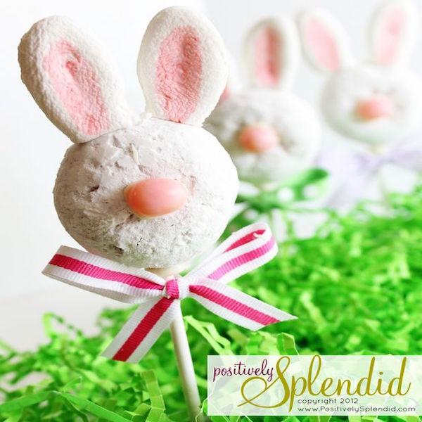 Positively Splendid Crafts: Donut Bunny Pops