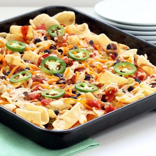 healthy plant-based nachos