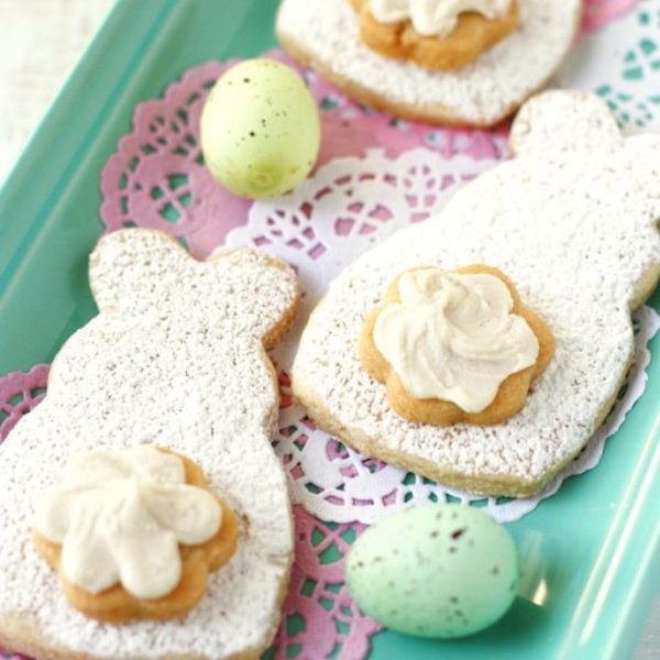 easter bunny cut sugar cookies