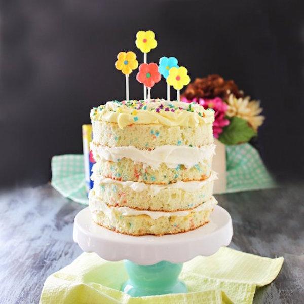 spring funfetti cake