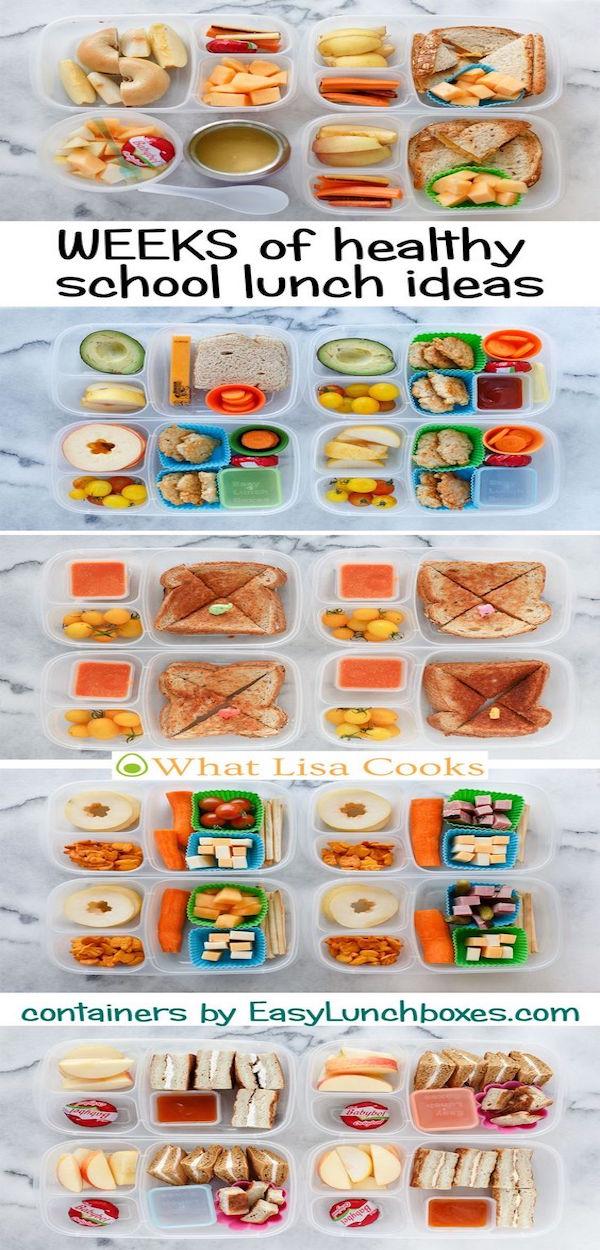 weeks of healthy school lunch ideas