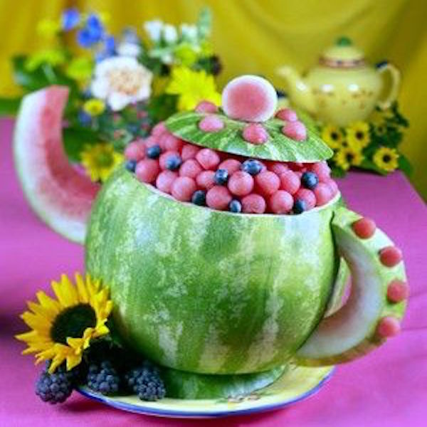 How to carve a watermelon into teapot edible crafts