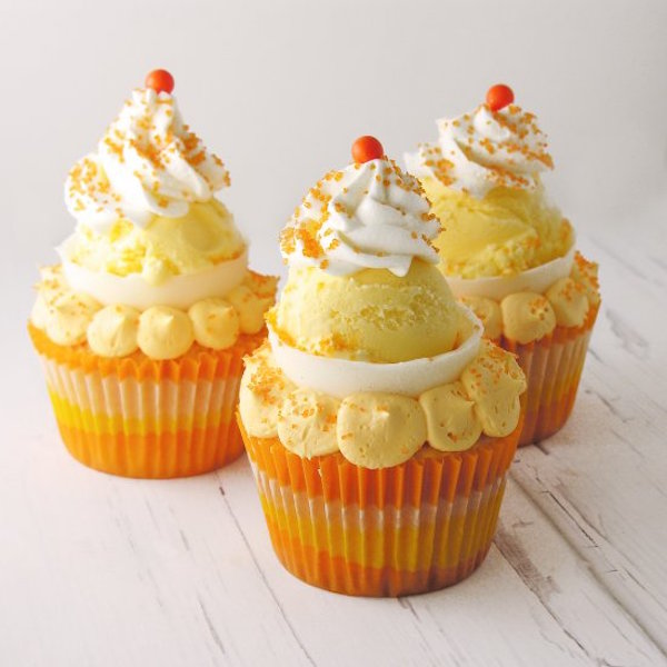 orange creamsicle cupcake