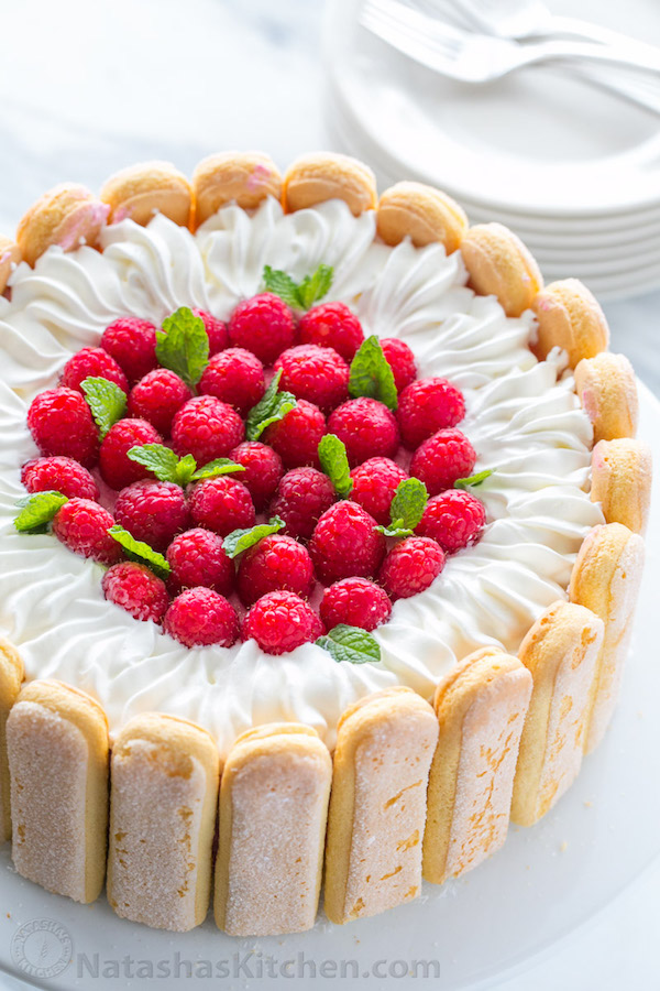 Edible Art Cake Charlotte : Raspberry Charlotte Cake   Edible Crafts