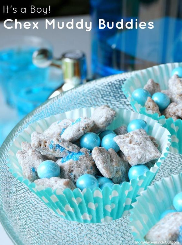 Snacks For Baby Showers ~ Chex muddy buddies for a baby shower edible crafts