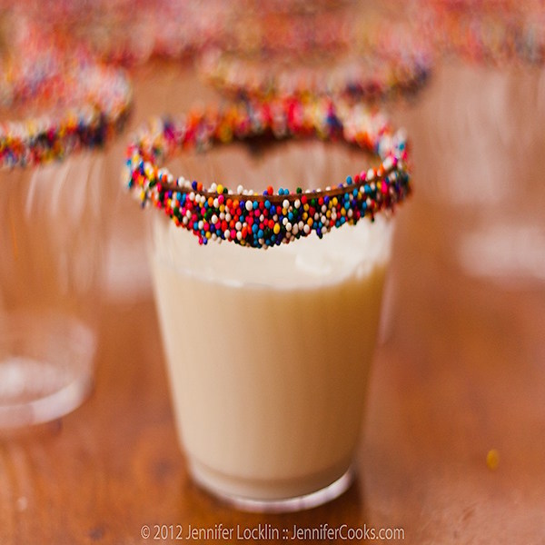 sprinkled dipped cups