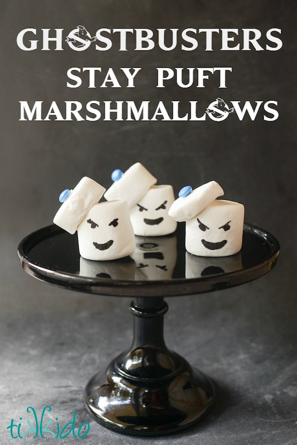 Ghostbusters Stay Puft Marshmallow Man Treats Edible Crafts